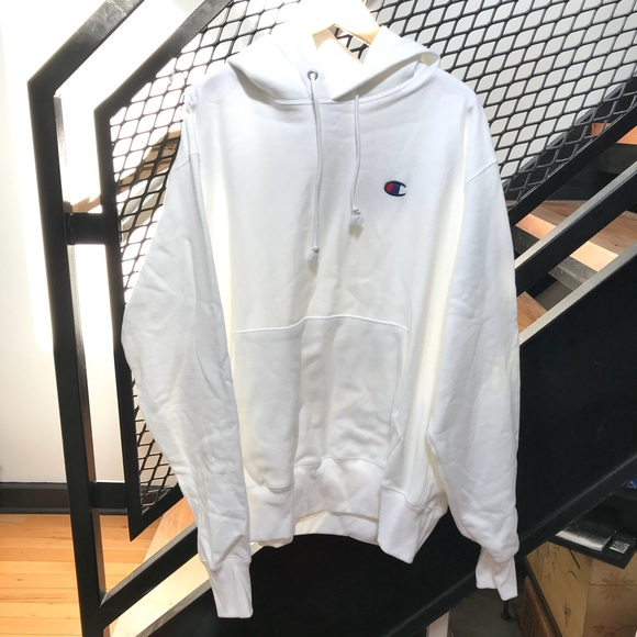 873682ae688f Champion Reverse Weave Hoodie in White